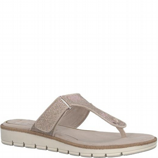 Marco Tozzi 2-2-27101-20 954 Platinum Metallic Womens Sandals